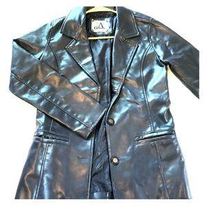 "Vintage blue ""leather"" jacket"